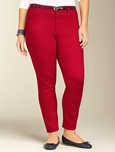 Heritage Colored Denim Ankle Jeans
