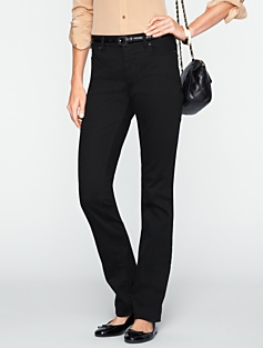 Heritage Slimming Black Straight-Leg Jeans