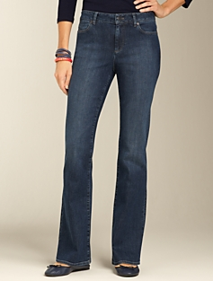 Curvy Medium Atlantic Rinse Bootcut Jeans