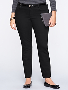Signature Black Denim  Ankle Jeans