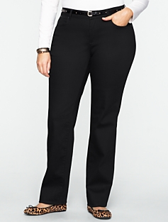 Curvy Super Black Rinse Straight-Leg  Jeans
