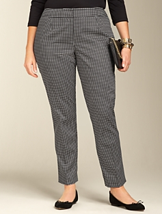Heritage Fit Dobby Dot Sateen Ankle Pants
