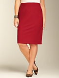 Slimming Ponte Knit Pencil Skirt
