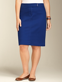 Colored Denim Pencil Skirt