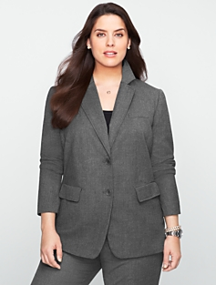 Italian Flannel Two-Button Blazer