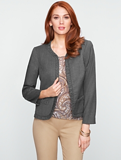 Italian Flannel Ruched Jacket