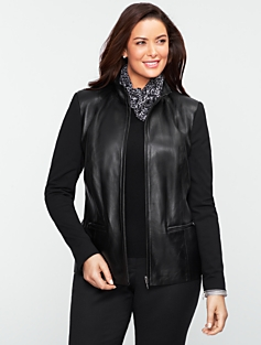 Leather & Ponte Jacket