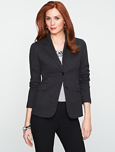 Bird's-Eye Knit Jacket