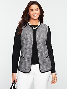 Glen Plaid Jacket