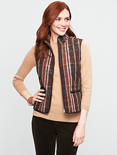 Plaid Quilted Vest