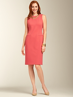 Ponte Knit Zip-Pocket Dress