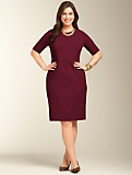 Ponte Knit Sheath Dress