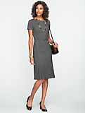 Belted Double-Weave Dress