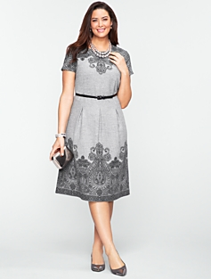 Border Paisley Flannel Dress