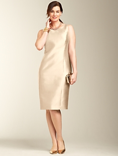 Gazar Doupioni Column Dress
