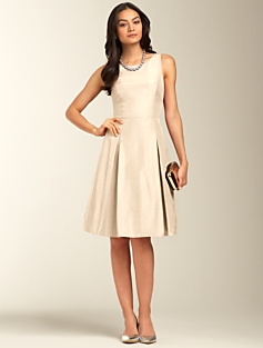 Doupioni Fit & Flare Dress