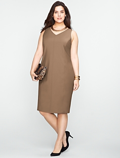 Seasonless Wool V-Neck Dress
