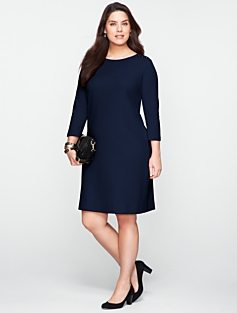 Button-Shoulder Dress