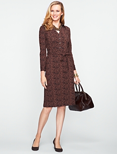 Platinum Jersey Leopard Print Shirtdress