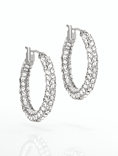 Pav� Hoop Earrings