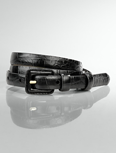 Vachetta Leather Covered-Buckle Belt