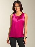 Ruched Silk Top