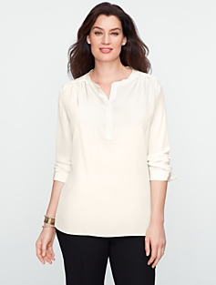 Lace-Shoulder Henley