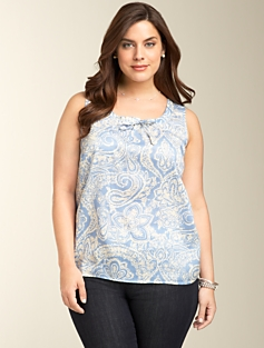 Drapey Tie-Neck Top