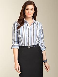 Wrinkle-Resistant Striped Shirt