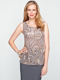 Silk Paisley Top