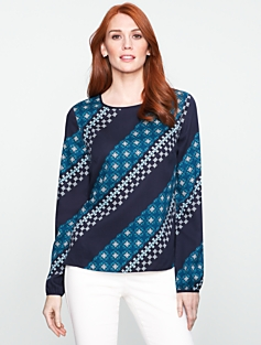 Geo-Stripe Top