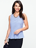 Polka-Dot Peplum Top