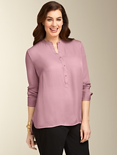 Silk Henley Shirt