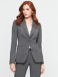 Pinstripe Two-Button Blazer