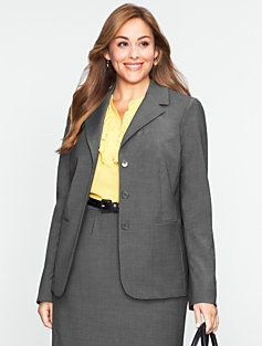 Seasonless Wool Three-Button Blazer