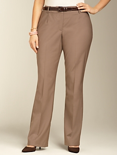 Curvy Seasonless Wool Bootcut Pants