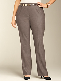 Heritage Staggered Twill Straight-Leg Pants