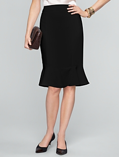 Seasonless Crepe Flounced Skirt