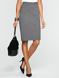 Pinstripe Pencil Skirt