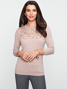 Cozy Beaded Audrey Sweater