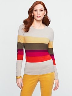 Colorblocked-Zip Shoulder Sweater