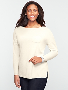 Shirttail-Hem Pocket Sweater