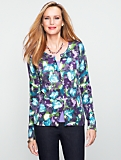 Charming Watercolor Floral Cardigan