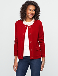 Rib-Knit Sweater Jacket