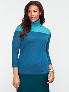 Merino Colorblocked Turtleneck