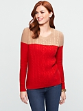 Cable Colorblocked Sweater