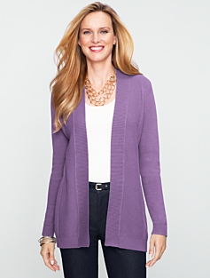 Mixed-Texture Cardigan