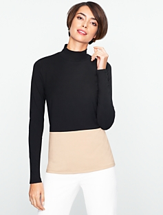 Colorblocked Turtleneck