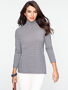 Winter Stripes Turtleneck Tee