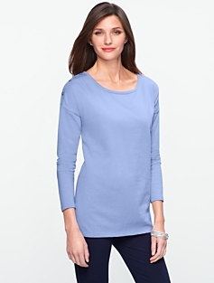 Shoulder-Button Cotton Tee